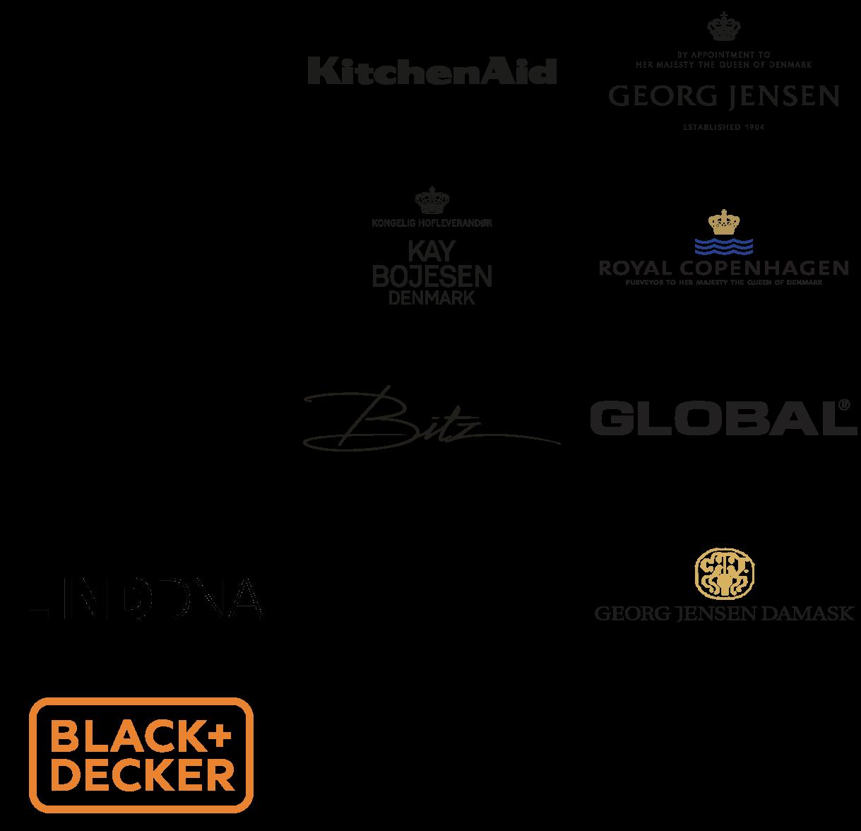 Ecooking, Kitchenaid, Georg Jensen, LIND DNA, Summerbird, mm. logoer