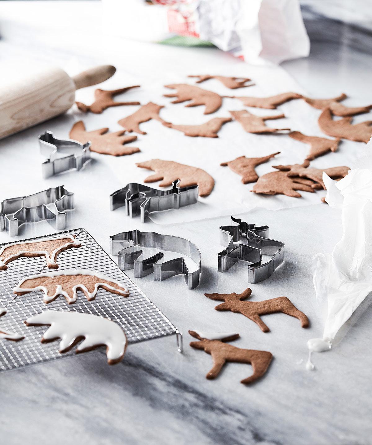 Pepparkaksformar av nordiska djur