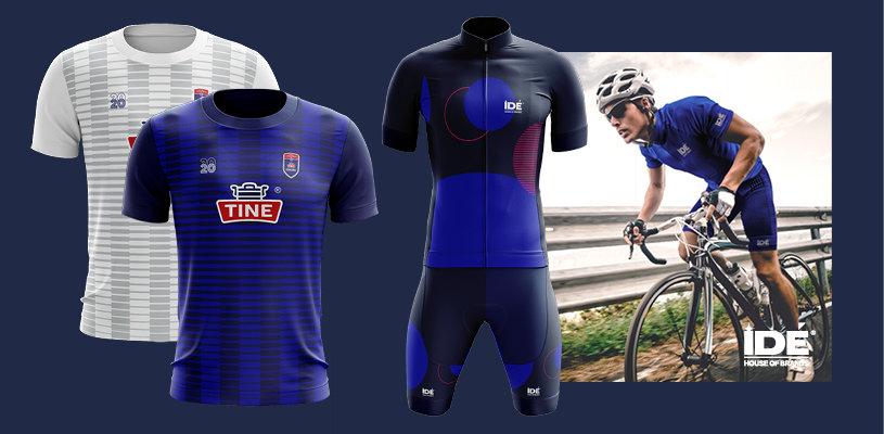 cyklist i IDÉ sportkläder och träningskläder med tryck