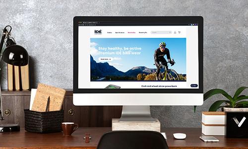 Webshop visas på skärm