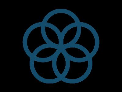 ikon fem blå ringar