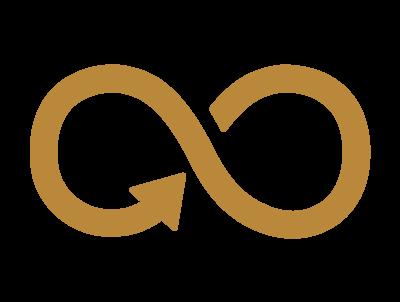 ikon guldfärgad evighetssymbol