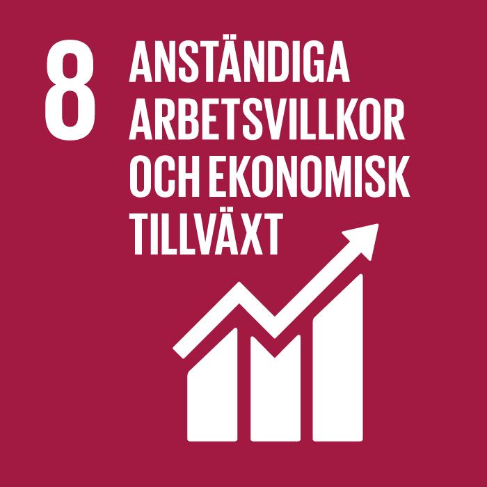 ikon för mål arbetsvillkor och ekonomisk tillväxt. uppåtgående trappa mot lila grund.